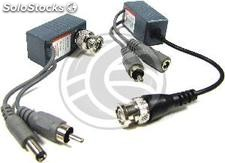 Balun passive video and audio feed (bnc rca DCJack RJ45) (SK07)
