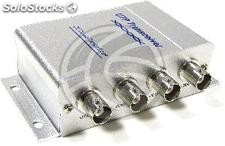Balun passive video up to 200m BNC terminals 25cm 2 units (SK08-0002)