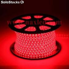 Bande led rouge, 5050 smd 60led/m, 220v 100m/roll