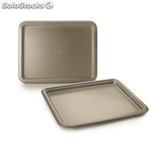 Bandeja horno para galletas golden glass 41X32 cm
