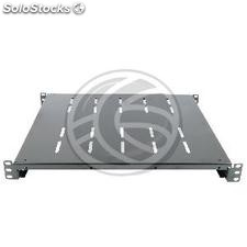 "Bandeja rack 19"" fija ajustable 450mm 1U negro (RB01-0003)"