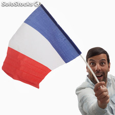 Bandera de Francia con Asta Th3 Party (46 x 30 cm)