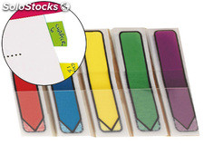 Banderitas separadoras flechas dispensador colores brillantespost-it index