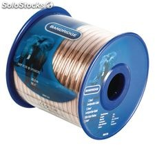 Bandridge Bobina de 30 metros de Cable de altavoz transparente de 1,5 mm², cobre