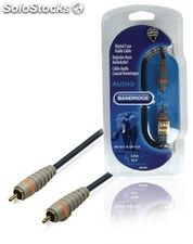 Bandridge Cable de 5 metros Coaxial para Audio Digital, RCA macho - RCA macho,