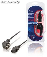 Bandridge Cable de Alimentación Schuko macho - IEC-320-C13 de color negro,