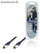 Bandridge Cable de audio RCA macho - macho de 2 metros de largo, ideal para