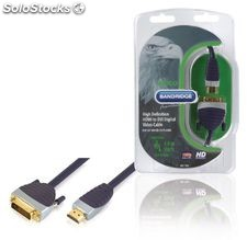 Bandridge Cable de Vídeo Digital de HDMI a DVI, admite 1080p full HD, conectores
