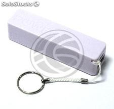 Bank 2600mAh Battery 1A USB Key powerbank white (OD52)