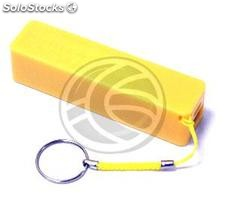Bank 2600mAh Battery 1A USB Key powerbank yellow (OD54)