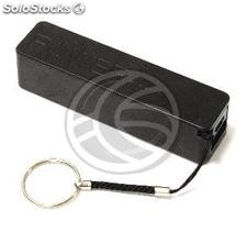 Bank 2600mAh Battery 1A USB keychain black colored powerbank (OD51-0002)