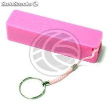Bank 2600mAh Battery 1A USB keychain pink powerbank (OD53)