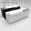 Bar counter and counter-mod. start up l2500 h1150-double glass countertop-# 3