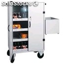 Bar stock trolley - mod. cr1696 - painted sheet structure - n. 3 adjustable
