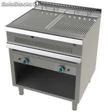 Barbacoa a gas acero inoxidable 2x9kw 800x730x900h mm GR7N200 JUNEX