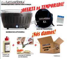 Barbacoa LotusGrill xl. Grátis Gel LotusGrill, Tesouras y Custos de envio