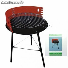 Barbacoa portatil de carbon con parrilla metal diametro 36 cm