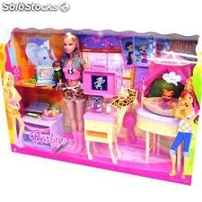 Barbie muñeca Veterinaria Zoo+acc.