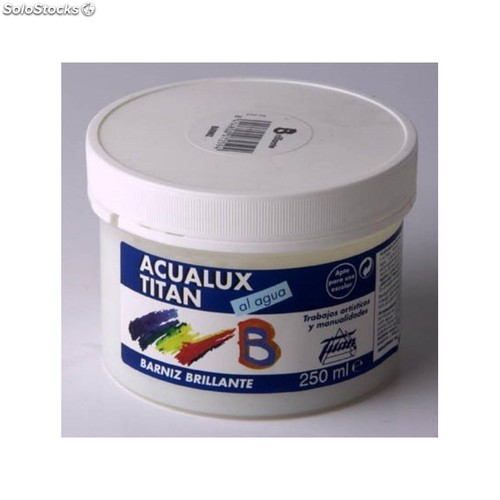 Barniz Manualidades Acril Brillante Titan Acualux 100Ml