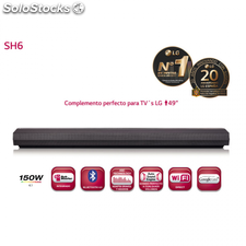Barra de sonido LG SH6 150W 4.0 Dolby Digital sincroniza vía Bluetooth y Wifi