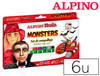 Barra maquillaje alpino monsters 6 colores surtidos