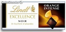 Barre 35G chocolat excellence noir orange lindt