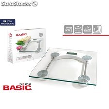 Bascula baño digital 150KG rectangular basic home - basic home - 8433774647560 -