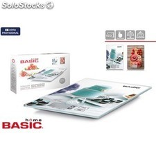 Báscula cocina digital 5KG cuadrada decorada basic home PGT01-46999