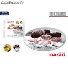 Báscula cocina digital 5KG redonda decorada basic home PGT01-47004