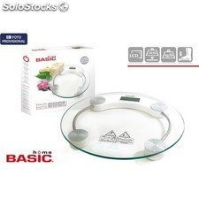 Báscula digital 150KG redonda basic home PGT01-47007