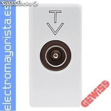 Base coaxial tv-sat 0dB conect.9,5mm gewiss Referencia: GW20381
