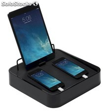 Base de carga USB BlueLounge Sanctuary 4 negro