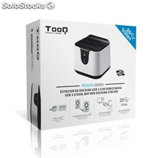 Base Docking Station usb 3.0 Doble sata blanca