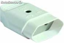Base enchufe movil bipolar Solera 10A 250V blanco