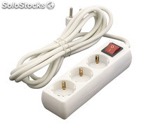 Base enchufe múltiple DUOLEC 3 Tomas cable 1.5m con interruptor 16A