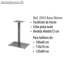Base hierro fundido mate gris 40X60X72