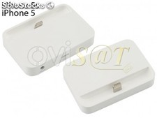 Base MF0303ZM/A blanca de carga Dock, para Apple iPhone 5, 5S en Blíster.