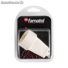 Base Movil Tt 16A-250V Blanca Blister Famatel