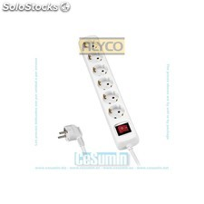 Base multiple 3 enchufes con interruptor. 1.4 m cable - ALYCO - Ref: