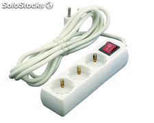 Base multiple 3 tomas 3 m interruptor blanco
