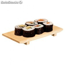 Base sushi 27,5x18x2,5 cm natural bambu