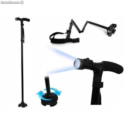 Baston muleta magic personas mayores luz led telescopico