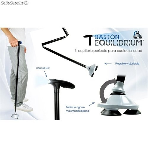 Baston Plegable Ajustable Equilibrium