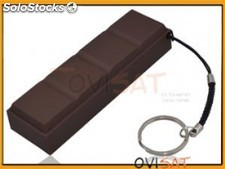 Batería externa, power bank de 2000 mAh con forma de barrita de chocolate en