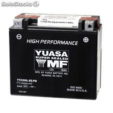Bateria moto yuasa YTX20HL-bs-pw high performance