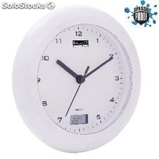 Bathroom Clock / Thermometer 17 Cm Analogue White