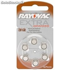 batteria acustica zinco-aria 1,4 v rayovac extra advanced v 312 49590