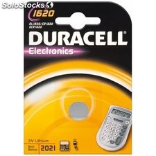 batteria al litio a bottone 3 volt cr1620 duracell 49560