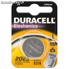 batteria al litio a bottone 3 volt cr2025 duracell 49562