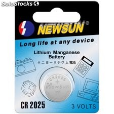 batteria al litio a bottone 3 volt cr2025 new sun 23488